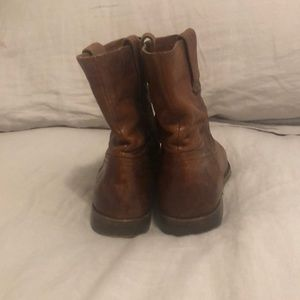 Frye Anna Shortie Brown Leather Boot